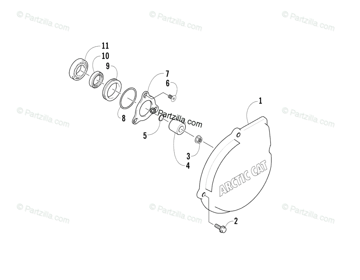 Arctic Cat Side by Side 2007 OEM Parts Diagram for Outer