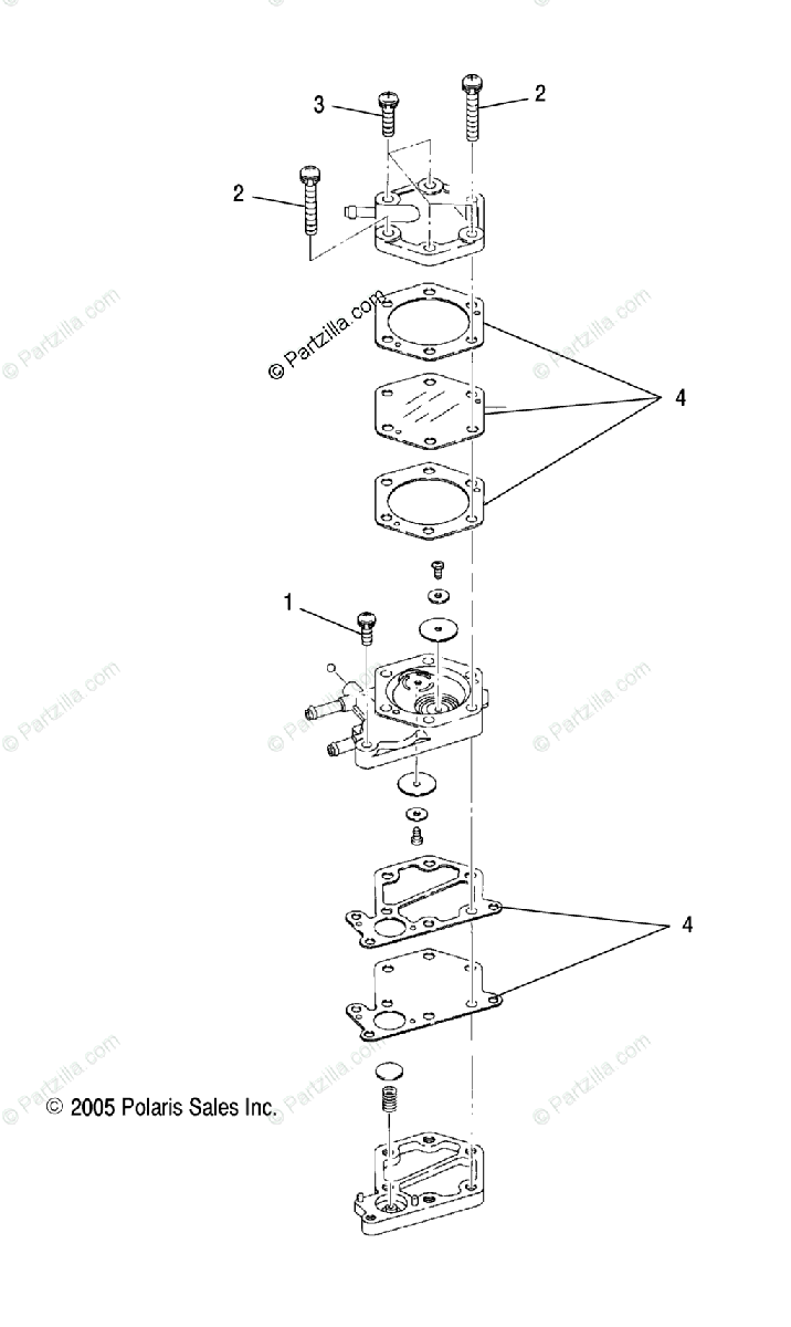 Polaris ATV 2007 OEM Parts Diagram for Fuel Pump
