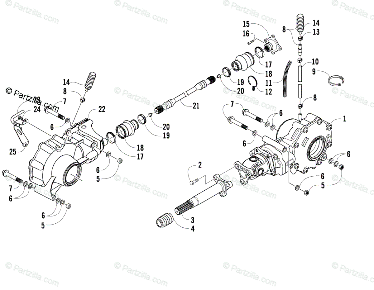Arctic Cat Side by Side 2009 OEM Parts Diagram for Drive