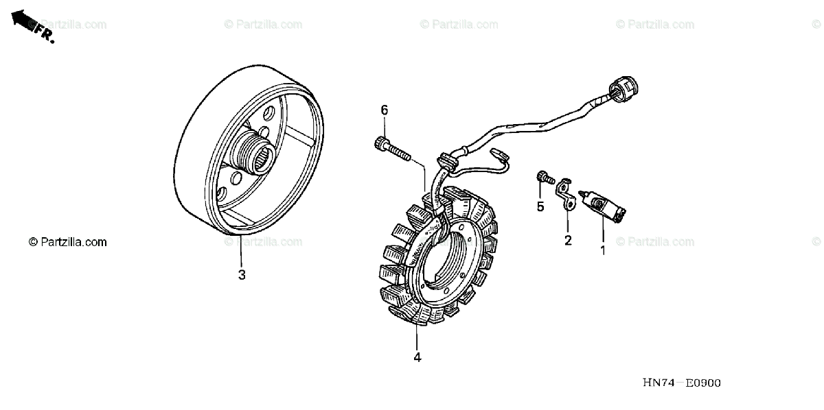 Honda ATV 2005 OEM Parts Diagram for Alternator