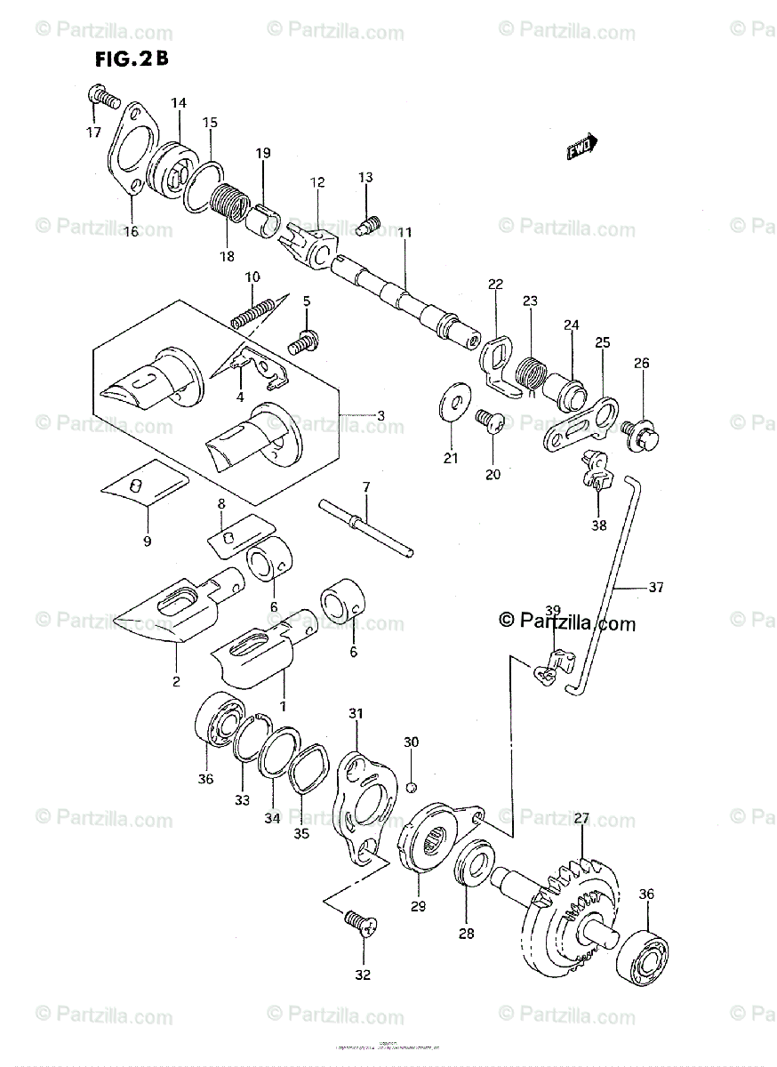 Suzuki Motorcycle 1996 OEM Parts Diagram for EXHAUST VALVE
