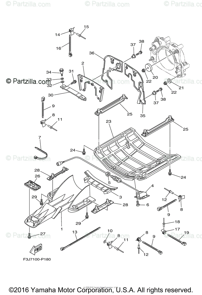 Yamaha Waverunner 2016 OEM Parts Diagram for Jet Unit 4