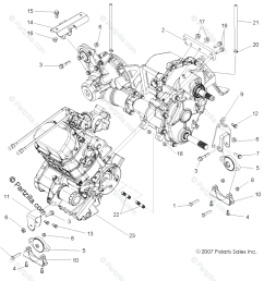 polaris side by side 2008 oem parts diagram for engine transmission 2008 polaris rzr 800 parts diagram rzr 2008 parts diagram [ 1034 x 1023 Pixel ]
