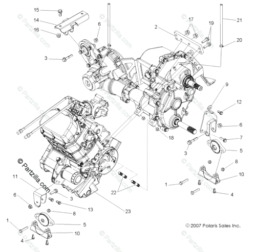 small resolution of polaris side by side 2008 oem parts diagram for engine transmission 2008 polaris rzr 800 parts diagram rzr 2008 parts diagram