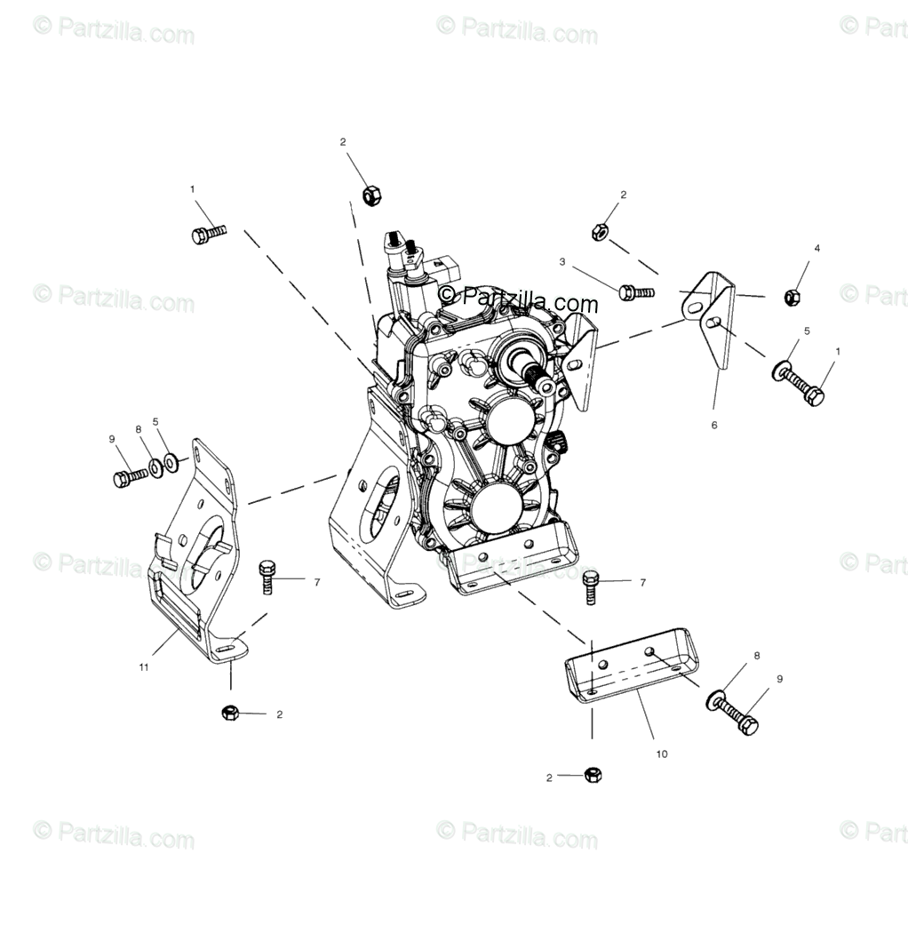 Polaris ATV 2001 OEM Parts Diagram for Transmission