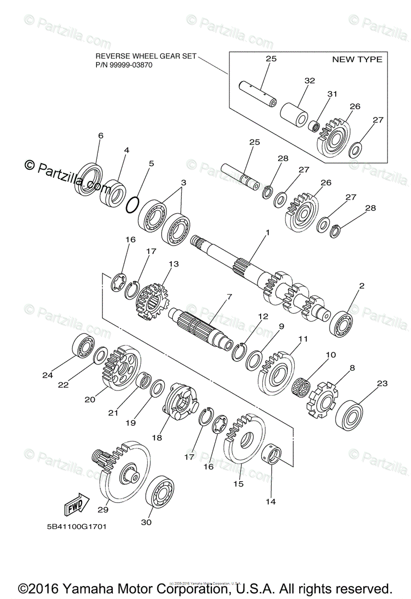 Yamaha Side by Side 2009 OEM Parts Diagram for