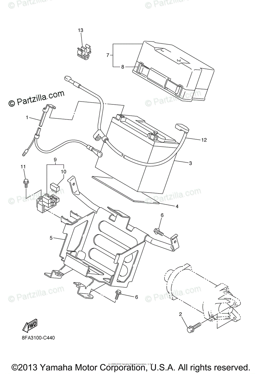 Yamaha Snowmobile 2005 OEM Parts Diagram for Electrical
