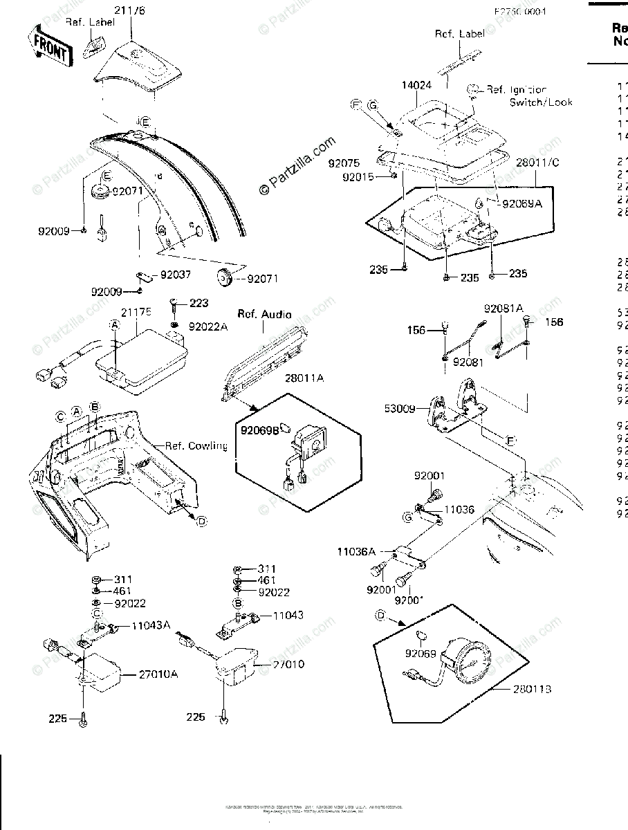 Kawasaki Motorcycle 1984 OEM Parts Diagram for DRIVE