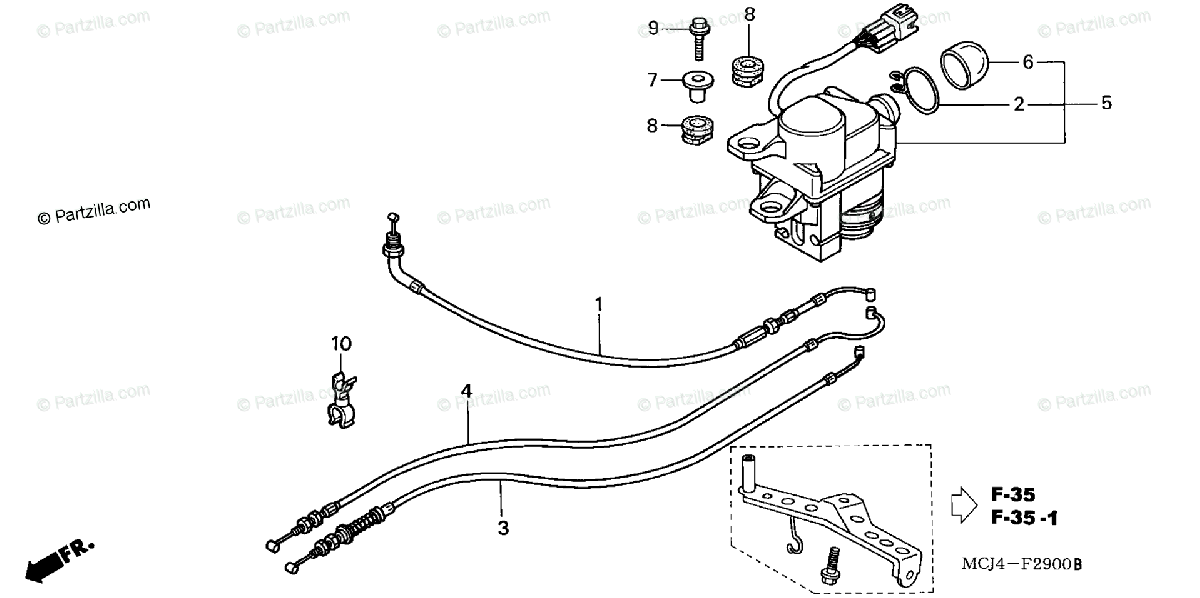 Honda Motorcycle 2002 OEM Parts Diagram for Servo Motor