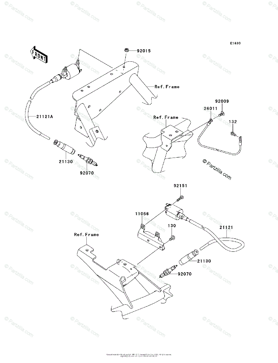 Kawasaki Side by Side 2012 OEM Parts Diagram for Ignition