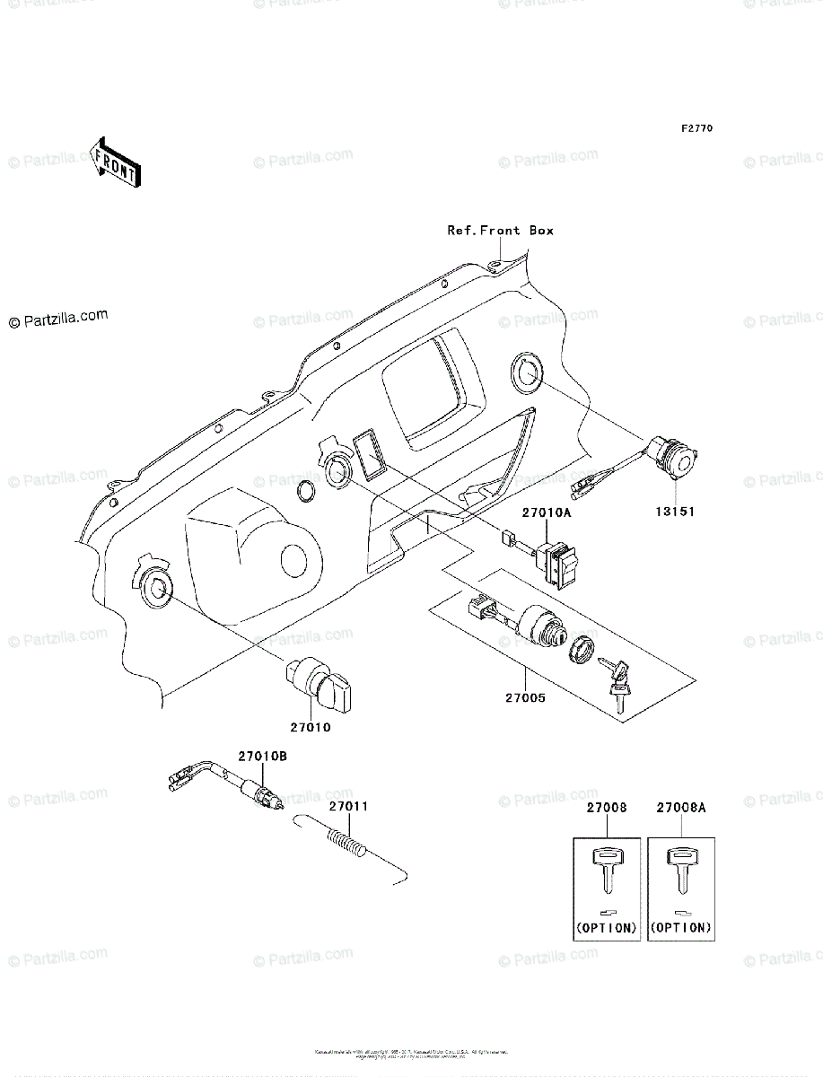 Kawasaki Side by Side 2010 OEM Parts Diagram for Ignition