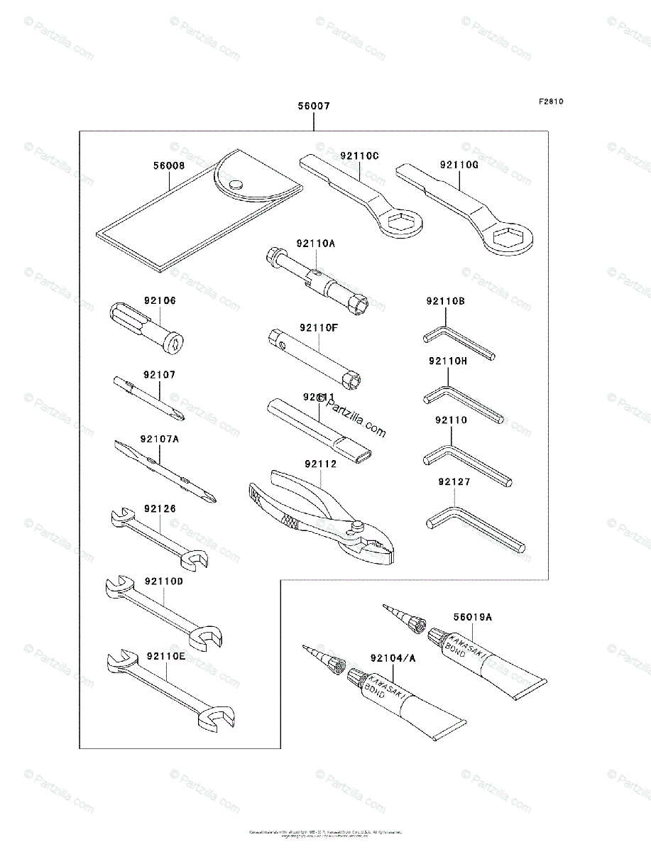 Kawasaki Motorcycle 2006 OEM Parts Diagram for Owner's