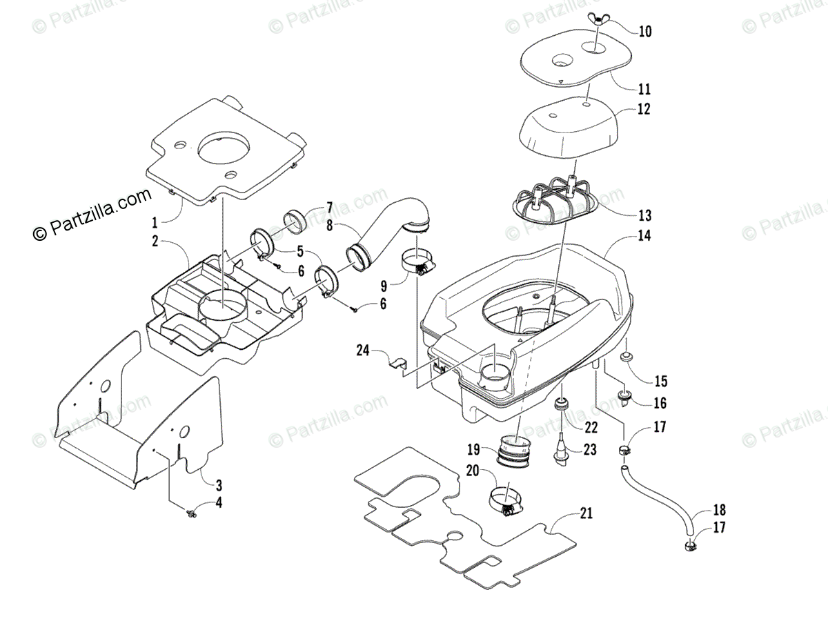Arctic Cat ATV 2008 OEM Parts Diagram for Air Intake