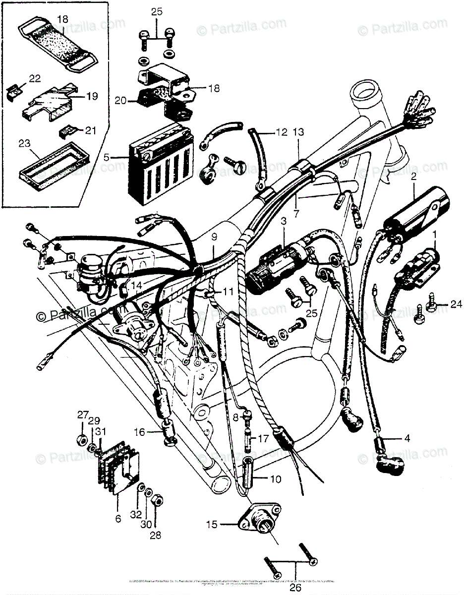 medium resolution of honda motorcycle models with no year oem parts diagram for wire light wiring diagram cl72 wiring
