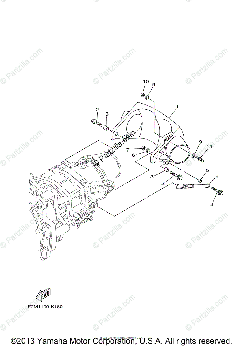 Yamaha Waverunner 2011 OEM Parts Diagram for Jet Unit 3