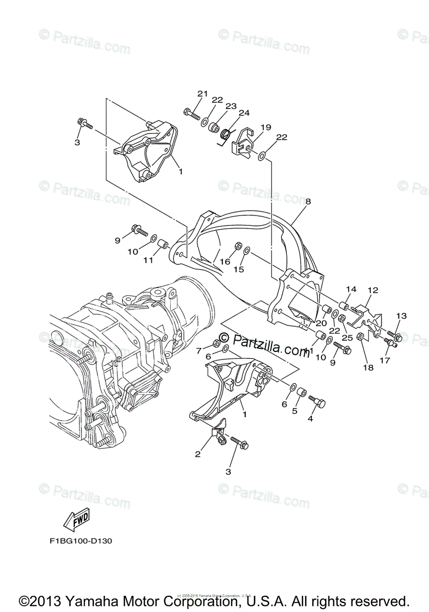 Yamaha Waverunner 2007 OEM Parts Diagram for Jet Unit 3