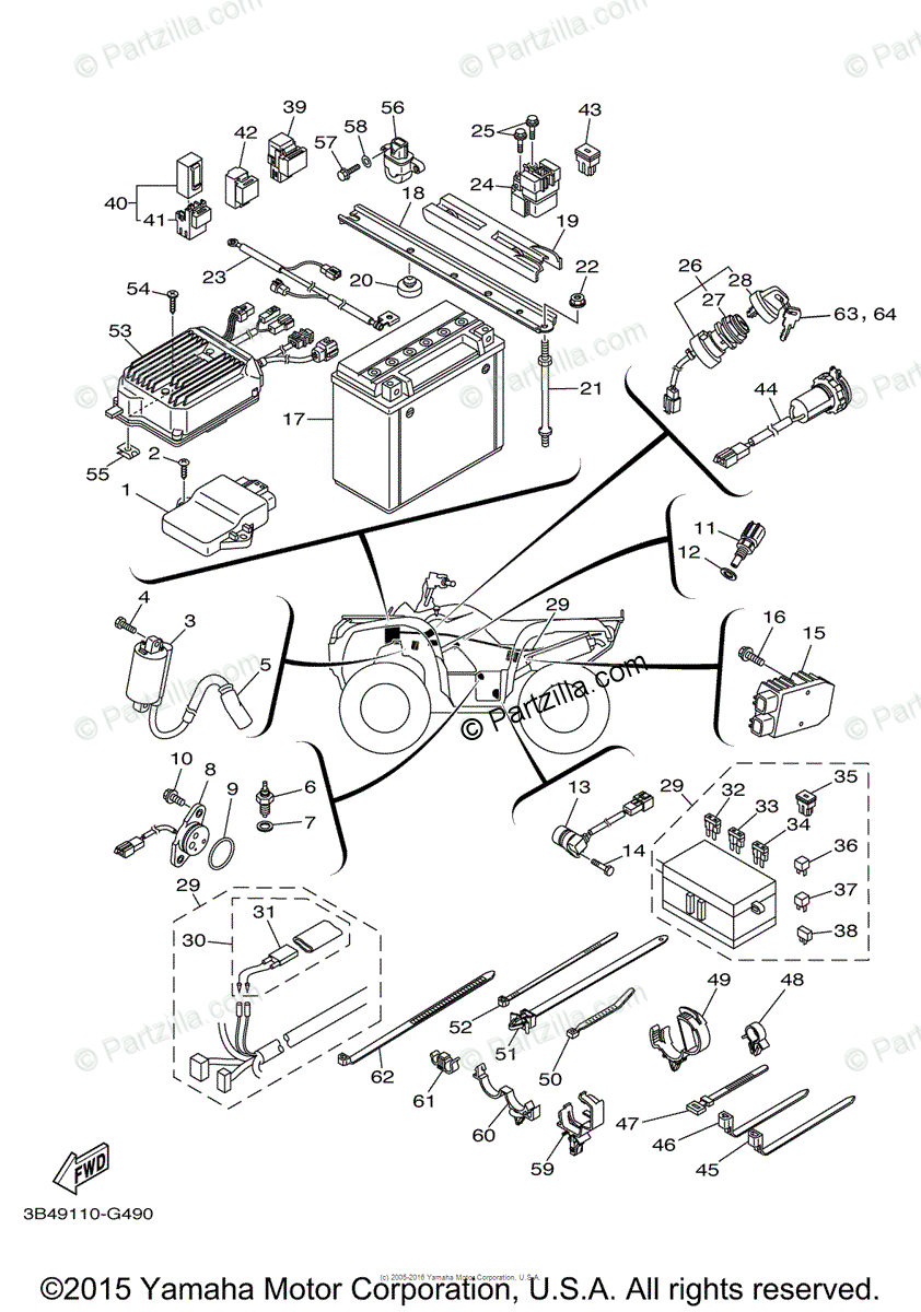 Wiring Diagram: 31 Yamaha Grizzly 700 Parts Diagram