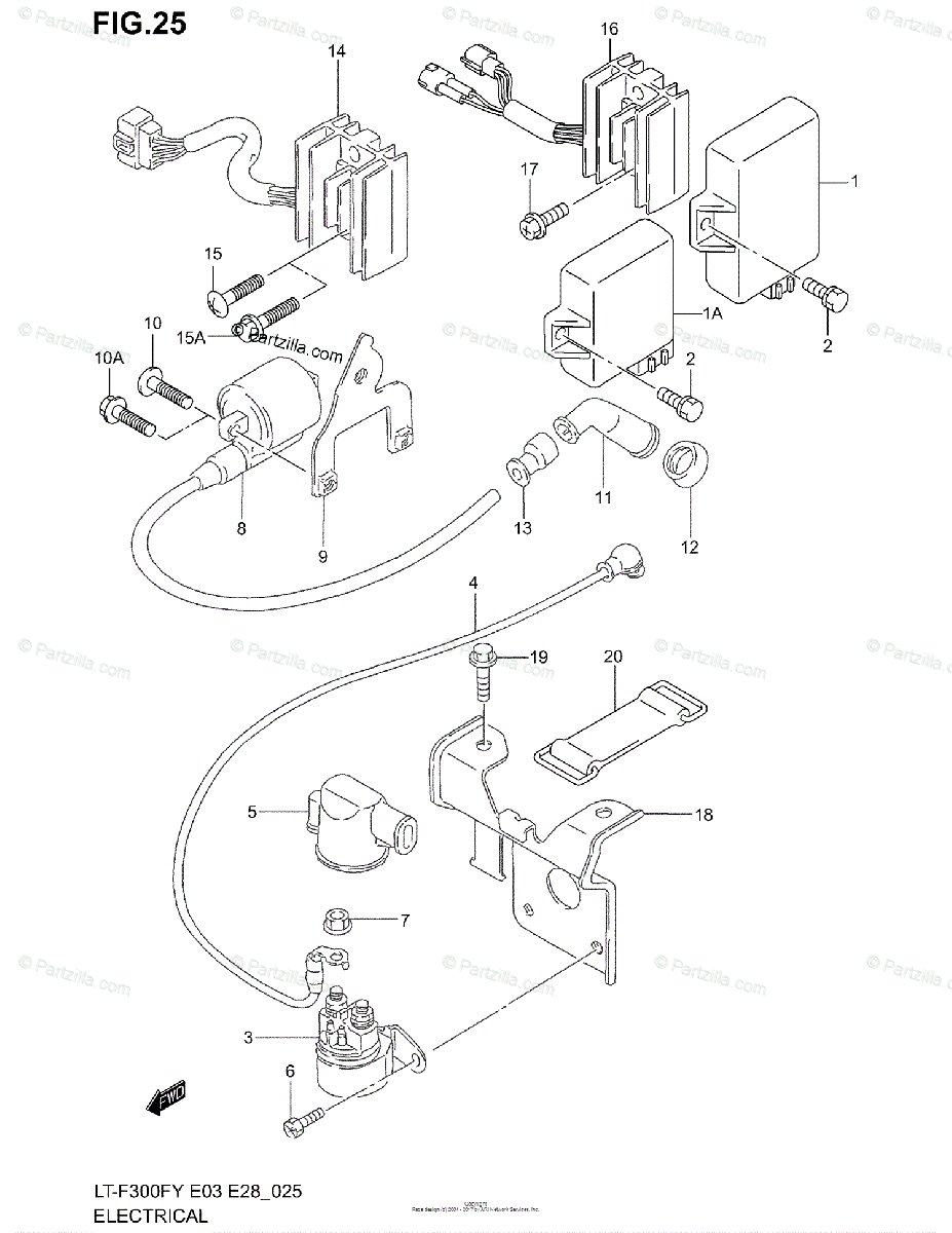 Suzuki ATV 2002 OEM Parts Diagram for Electrical