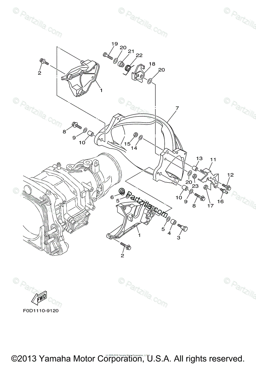 Yamaha Waverunner 2001 OEM Parts Diagram for Jet Unit 3