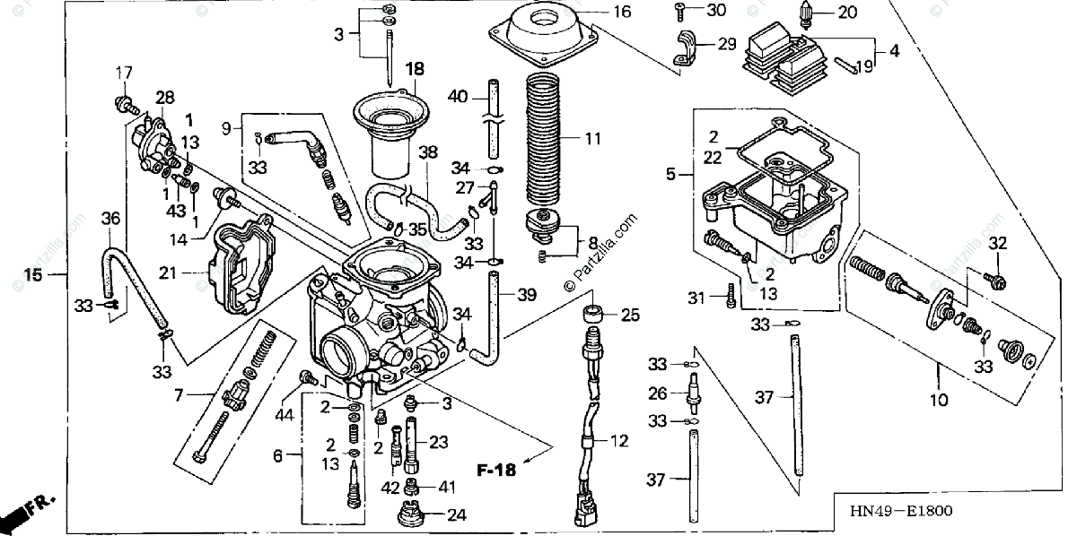 Honda ATV 2006 OEM Parts Diagram for Carburetor