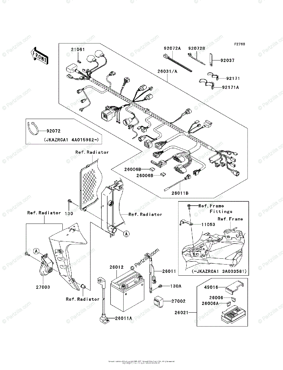 medium resolution of 2003 z1000 wiring diagram wiring librarykawasaki motorcycle 2003 oem parts diagram for chassis electrical equipment