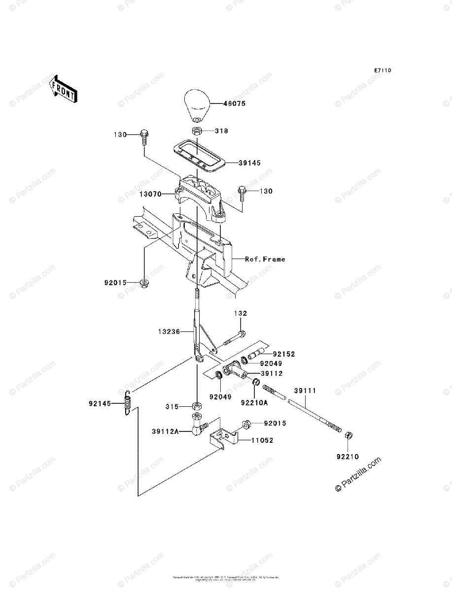 Kawasaki ATV 2003 OEM Parts Diagram for Control