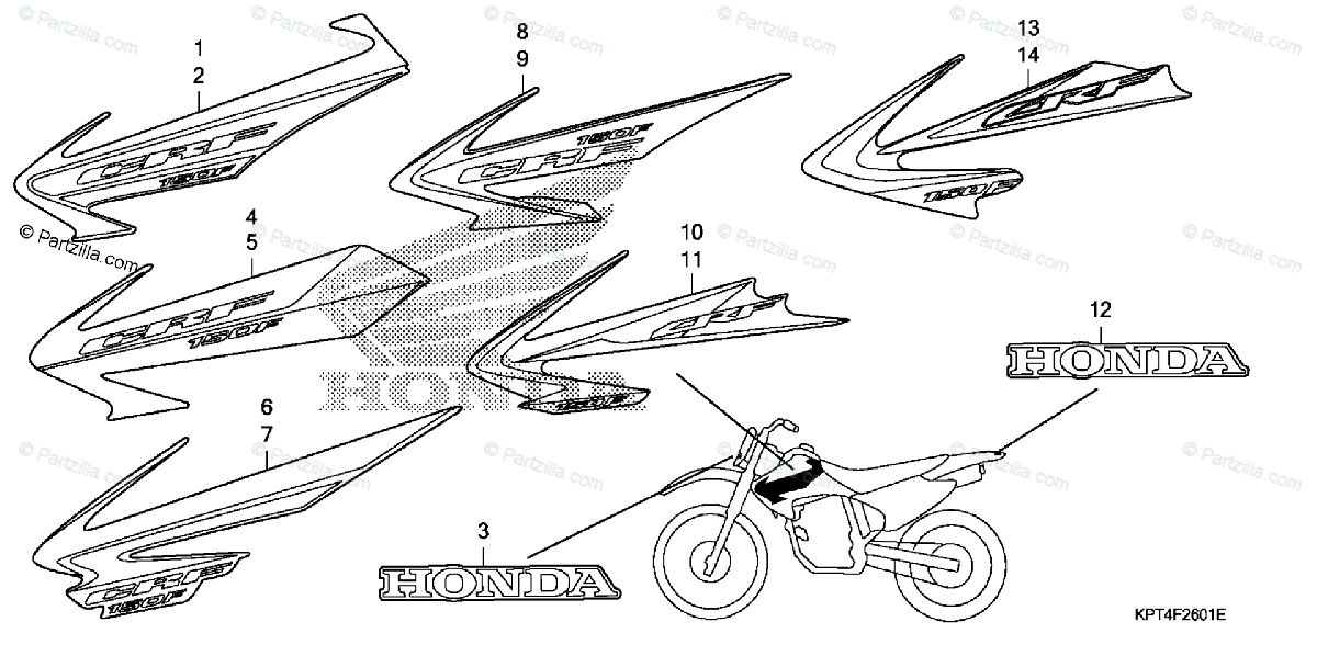 Honda Motorcycle 2006 OEM Parts Diagram for Mark (2