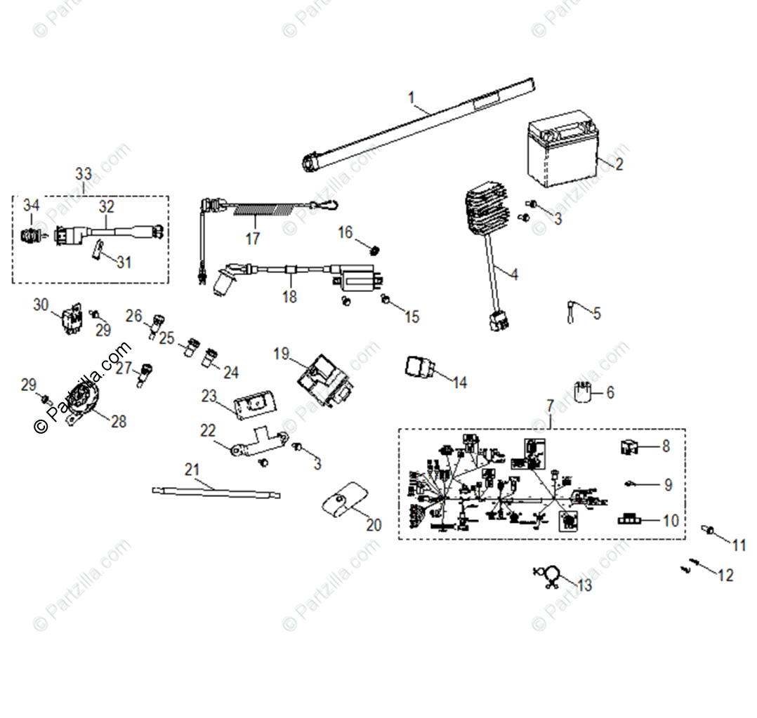 Polaris Atv Oem Parts Diagram For Electrical