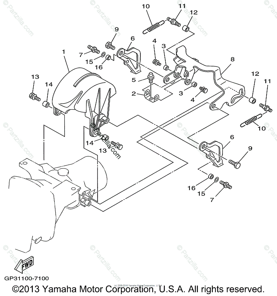 Yamaha Waverunner Oem Parts Diagram For Jet Unit 3