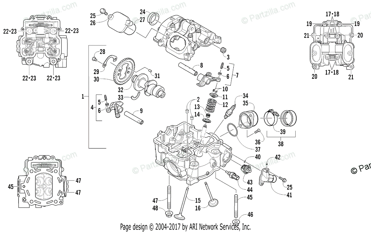 Arctic Cat Side by Side 2016 OEM Parts Diagram for