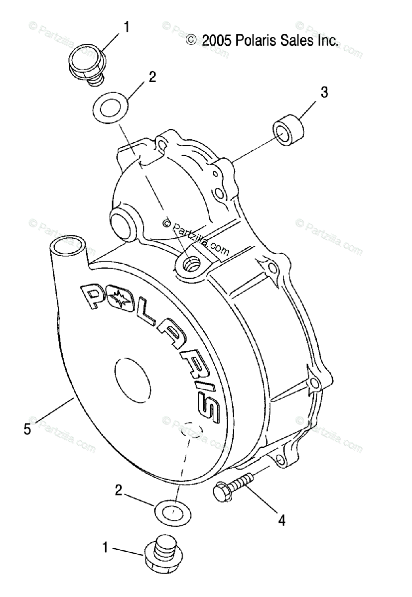 Polaris Side by Side 2009 OEM Parts Diagram for Engine