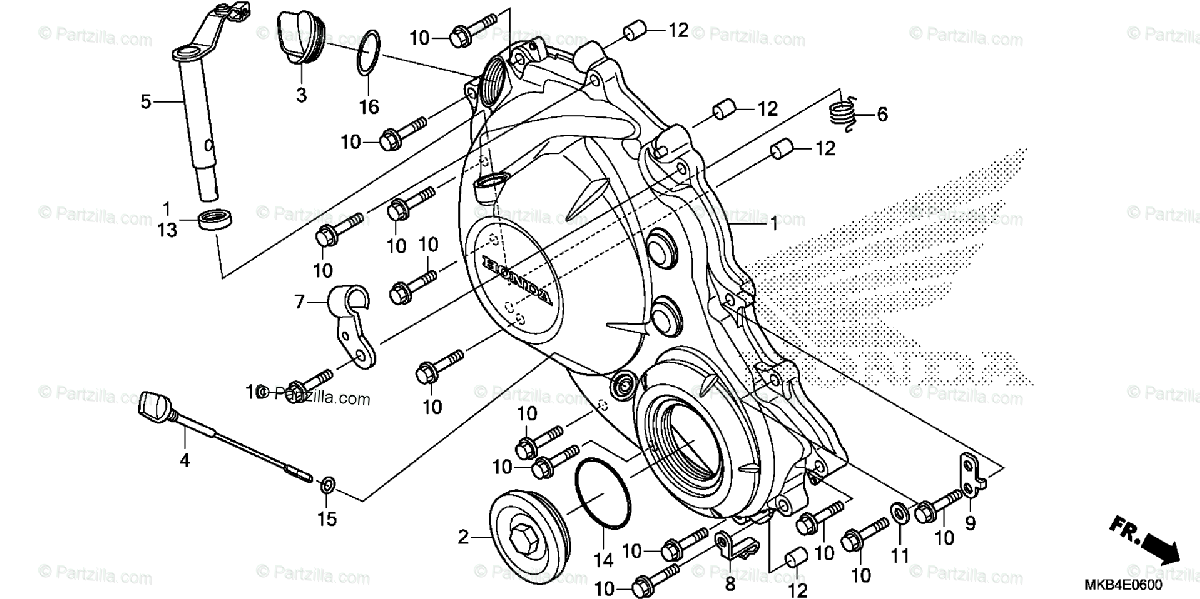 Honda Motorcycle 2016 OEM Parts Diagram for Right