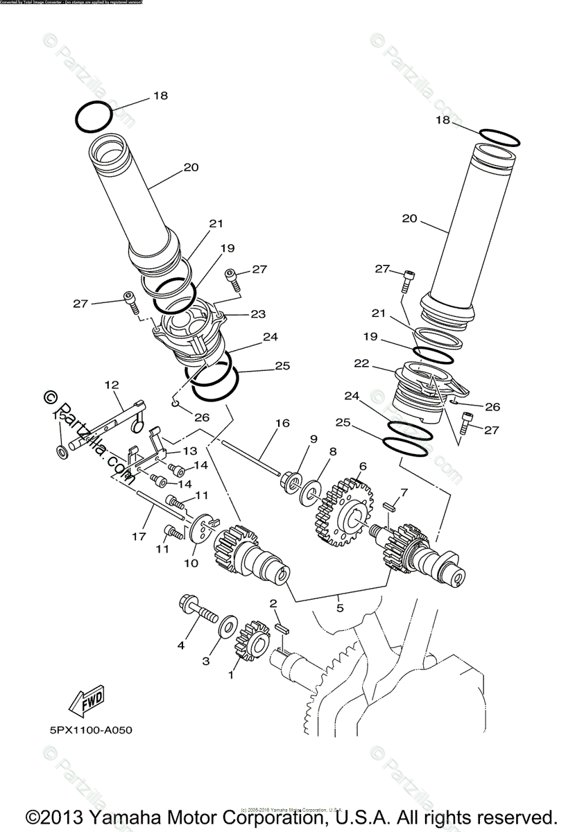 Yamaha Motorcycle 2004 OEM Parts Diagram for Camshaft