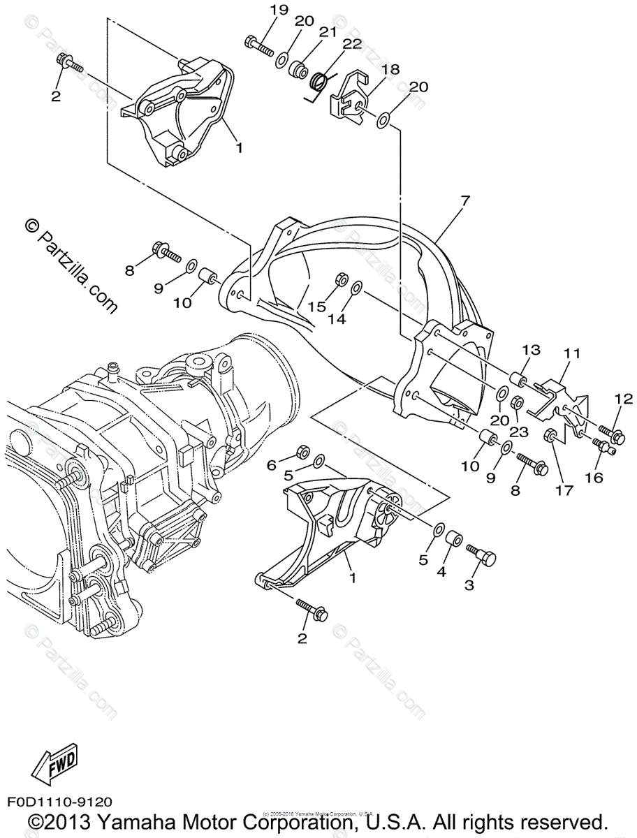 Yamaha Waverunner 1999 OEM Parts Diagram for Jet Unit 3