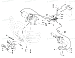 Arctic Cat ATV 2005 OEM Parts Diagram for Winch Assembly