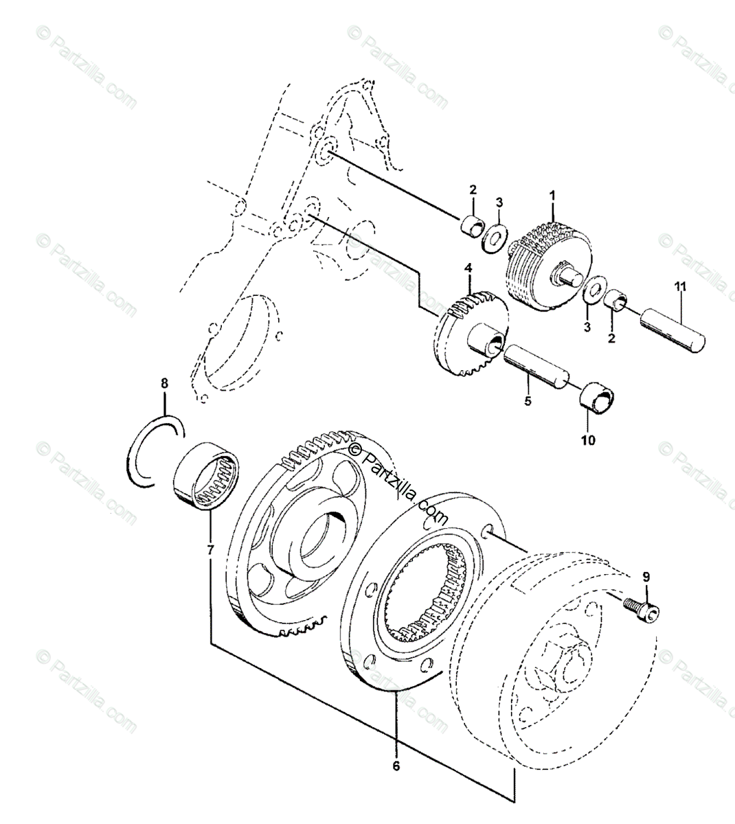 Arctic Cat ATV 2002 OEM Parts Diagram for Starter Clutch