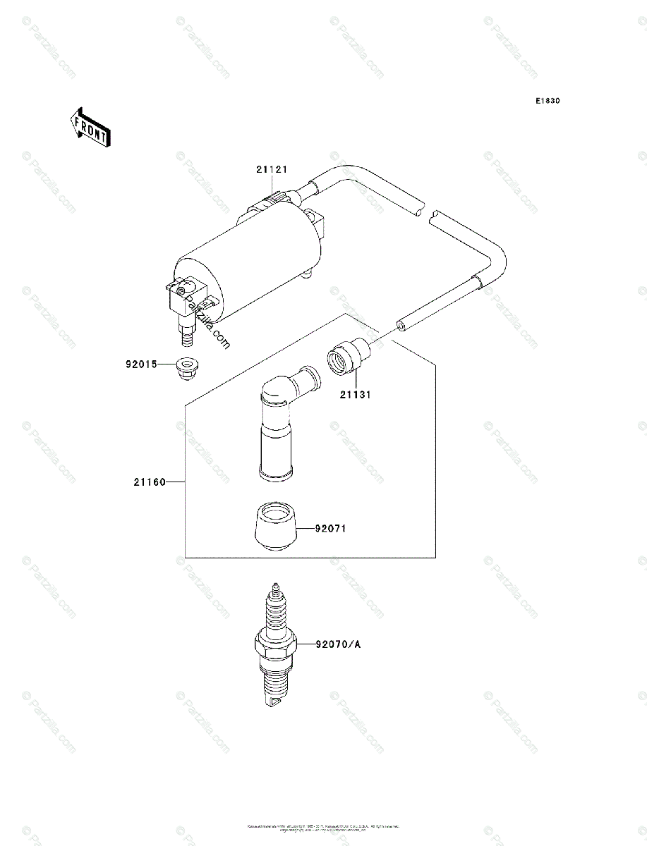 Kawasaki ATV 1999 OEM Parts Diagram for Ignition System