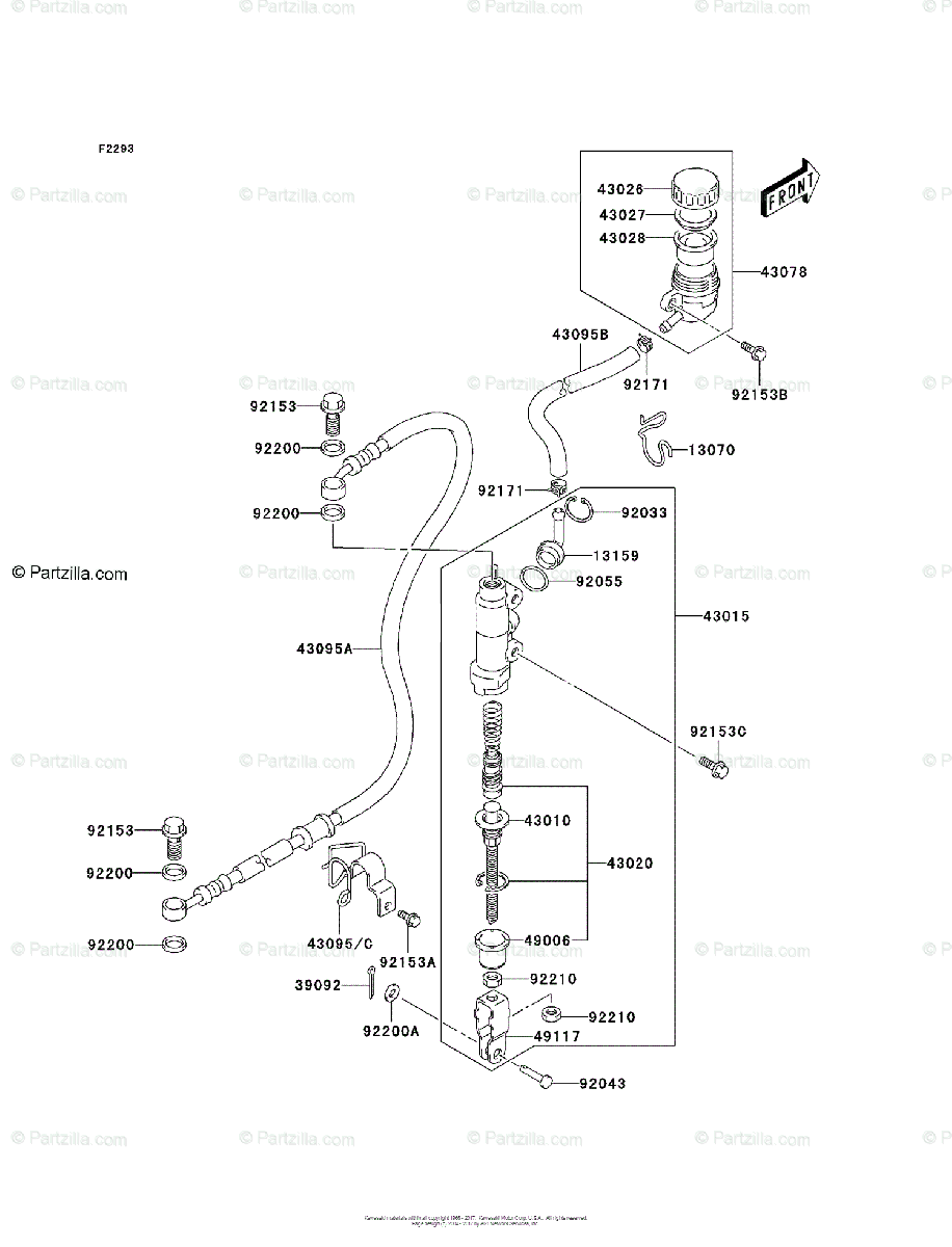 Kawasaki ATV 2005 OEM Parts Diagram for Rear Master