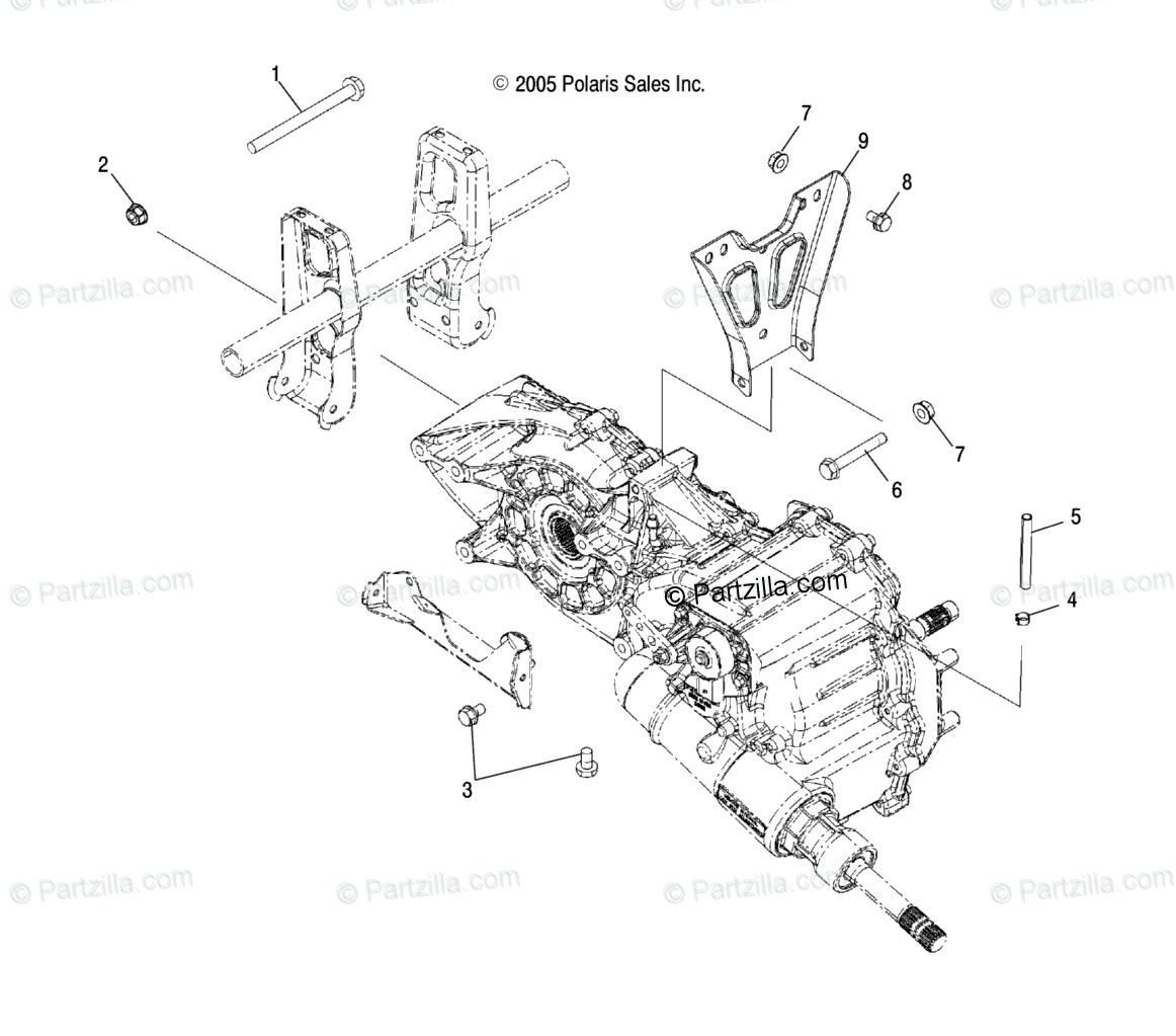 Polaris ATV 2008 OEM Parts Diagram for Drive Train, Main
