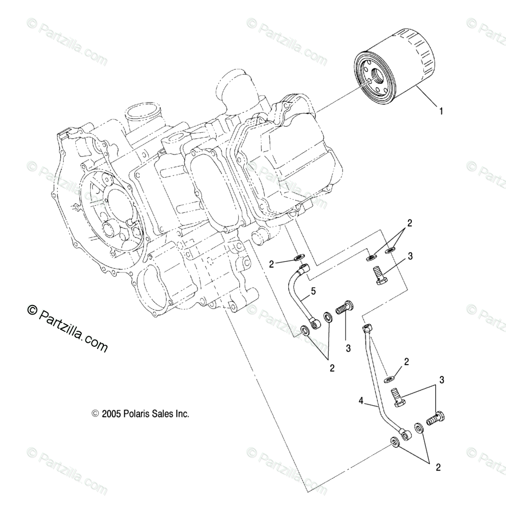 Polaris ATV 2007 OEM Parts Diagram for Engine, Oil Filter