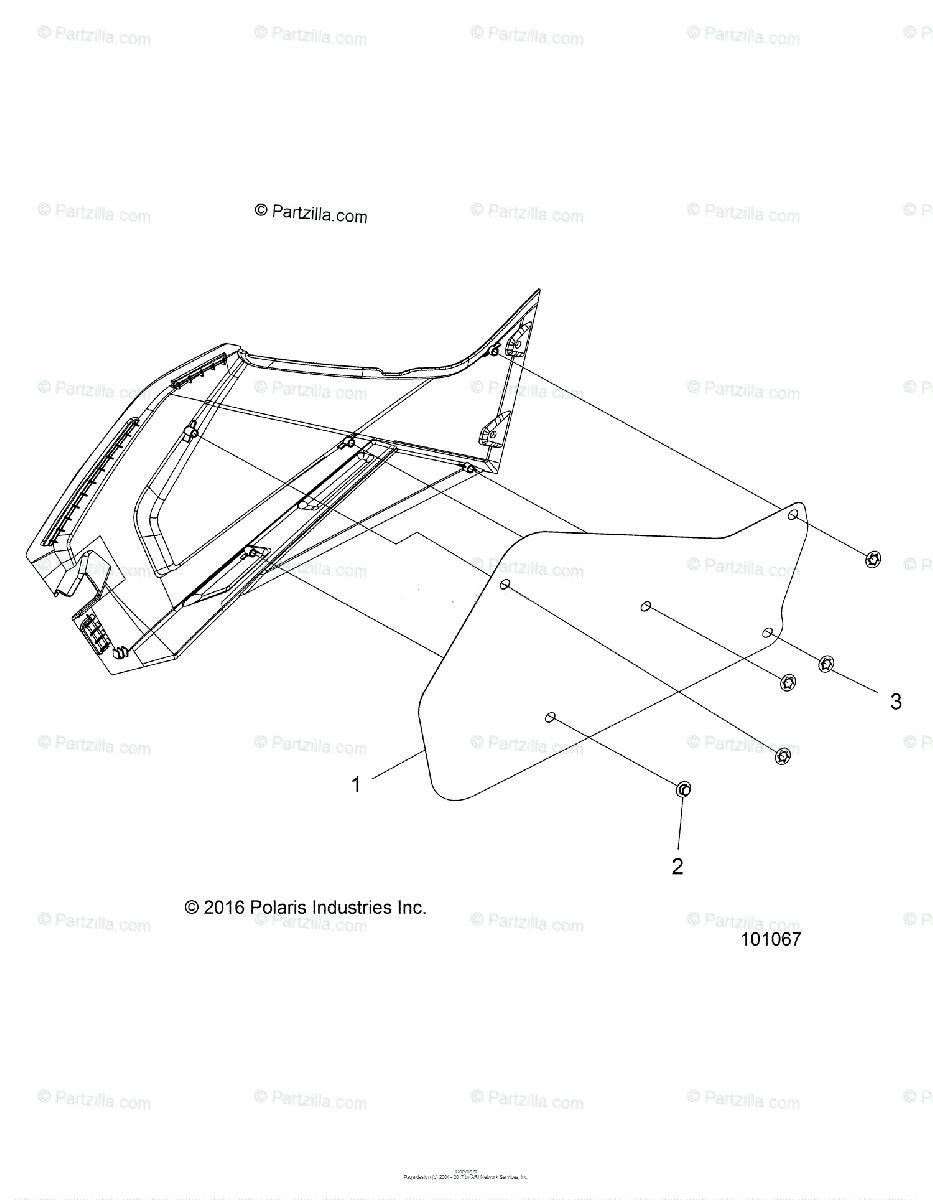 Polaris ATV 2014 OEM Parts Diagram for Body, Right Hand