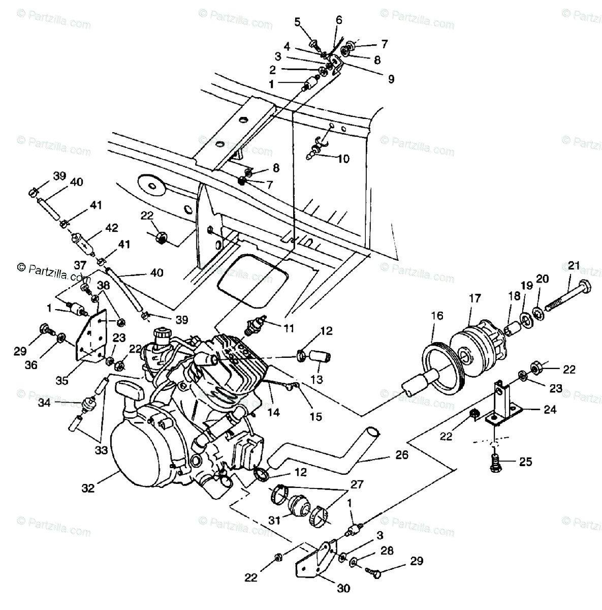 Polaris Scrambler 400 Parts Diagram