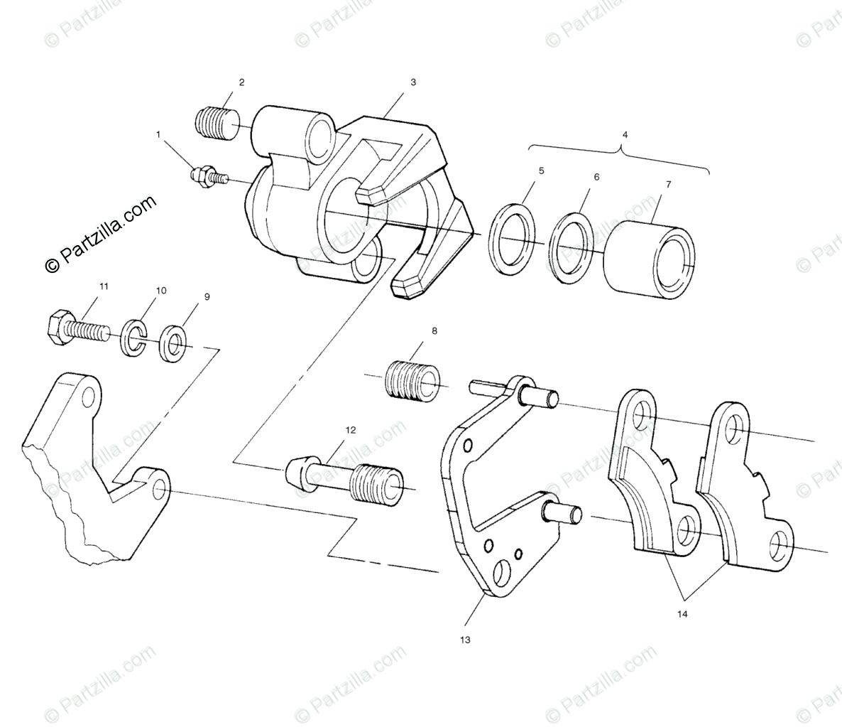 Polaris Atv Oem Parts Diagram For Front Brake