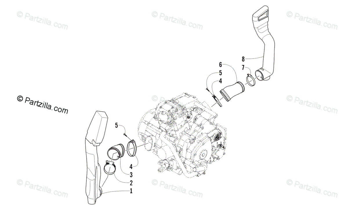 Arctic Cat ATV 2010 OEM Parts Diagram for Case/Belt