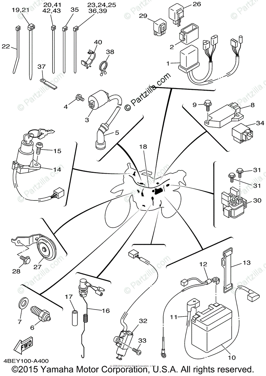 hight resolution of yamaha motorcycle 2002 oem parts diagram for electrical 1 partzilla com