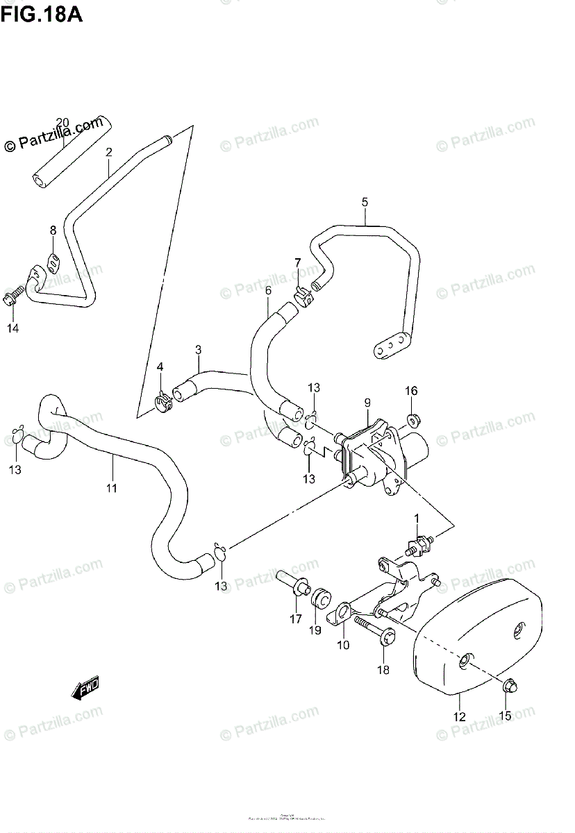 Suzuki Motorcycle 2005 OEM Parts Diagram for SECOND AIR