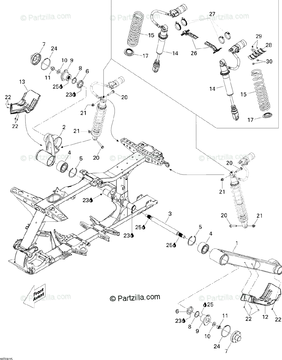 Can-Am ATV 2008 OEM Parts Diagram for Rear suspension