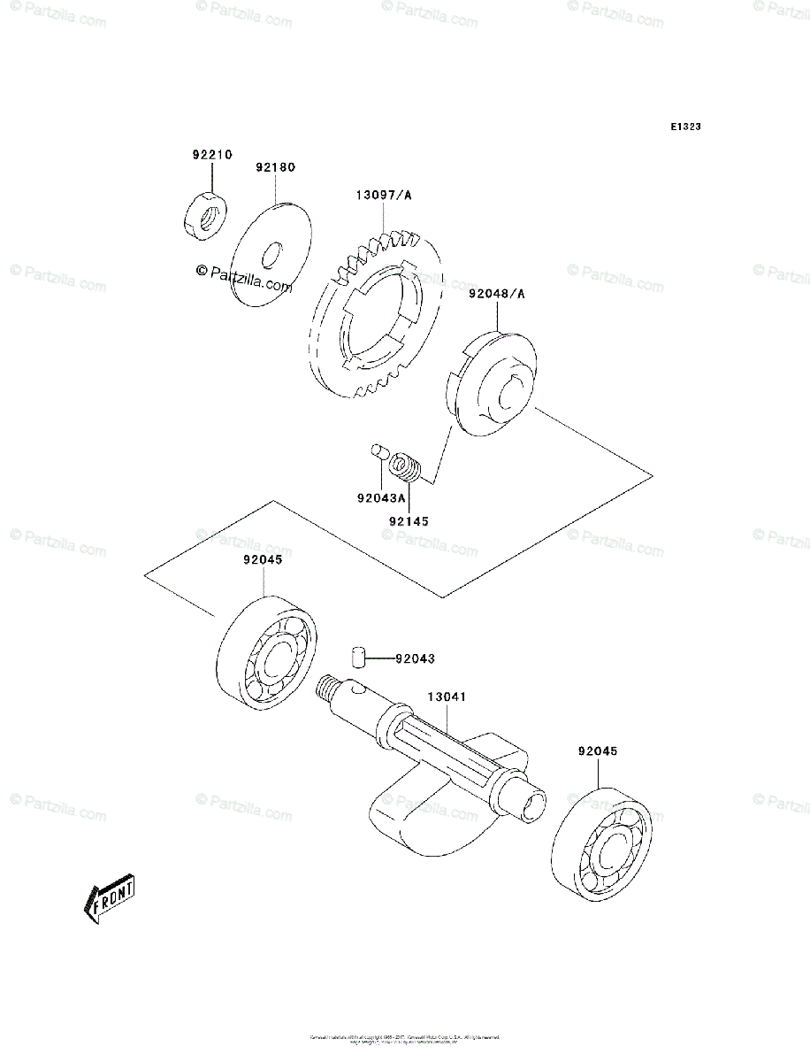 Kawasaki ATV 2003 OEM Parts Diagram for Balancer