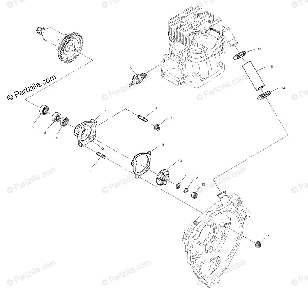 Polaris Atv Oem Parts Diagram For Water Pump