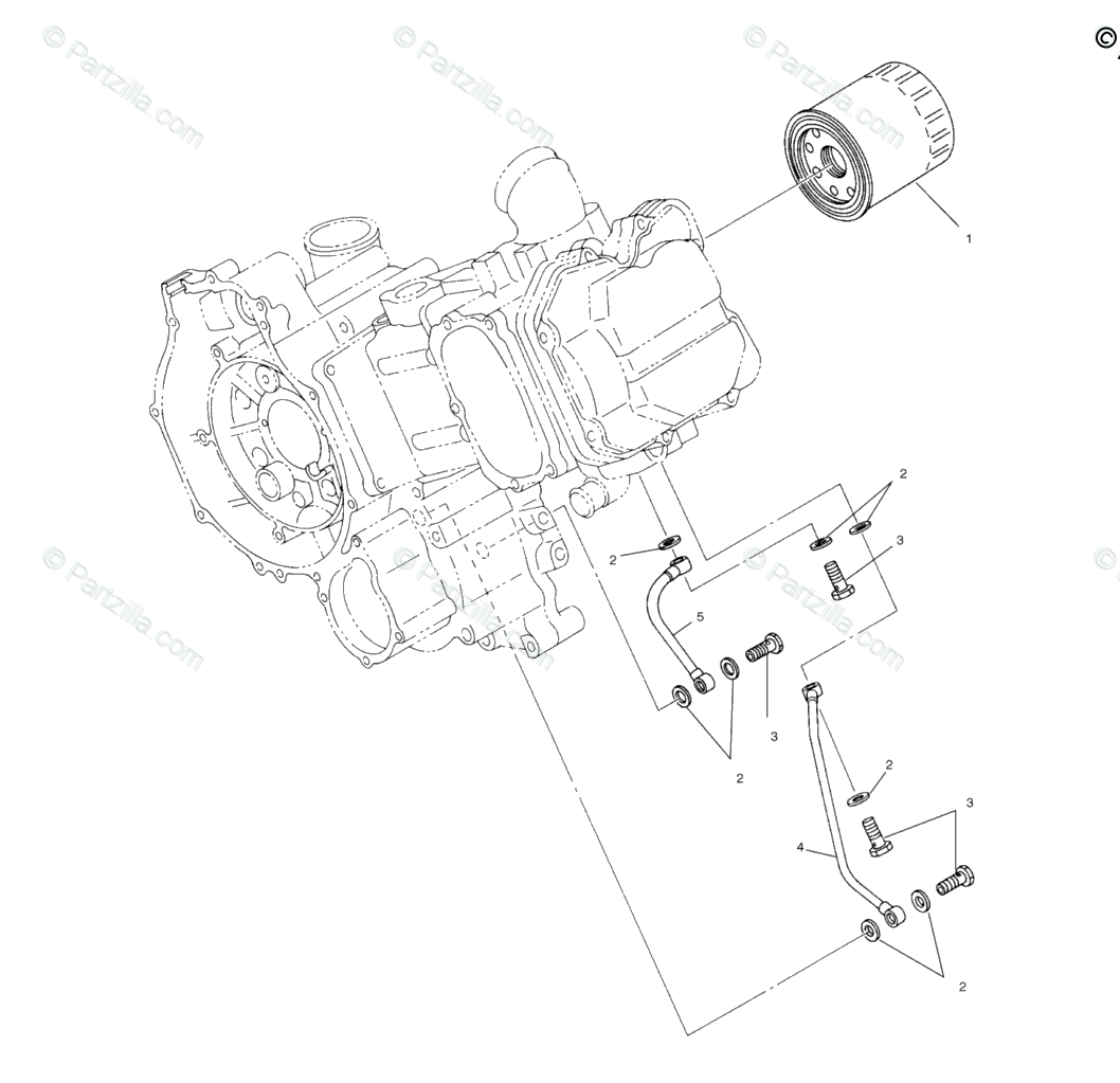 Polaris ATV 2002 OEM Parts Diagram for Oil Filter